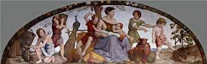 Linen Canvas ,the High Definition Art Decorative Prints on Canvas of oil painting 'Johann Friedrich Overbeck-The Selling of Joseph,1817', 10x32 inch / 25x82 cm is best for Bathroom gallery art and Home artwork and Gifts