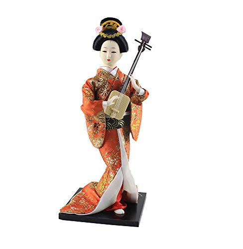 Heartrace 30cm/12'' Handmade Japanese Hinamatsuri Hina Doll Geisha Kabuki Beauty Figurine ()
