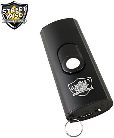 Streetwise Mini Keychain Stun Gun 22,000,000 Volts Small Size, BIG Power BLACK