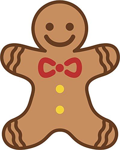 Cute Holiday Christmas Gingerbread Man Cartoon Vinyl Decal Sticker (4
