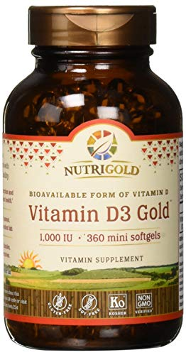 Vitamin D3 1000 IU, 360 Mini Softgels (GMO-free, Preservative-free, Soy-free, USP Grade Natural Vitamin D in Organic Olive Oil)