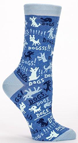 Blue Q Women's Novelty Crew Socks - Dogs (Women's Size 5-10)