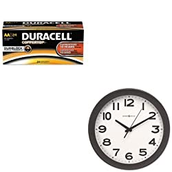 KITDURMN1500B24MIL625485 - Value Kit - Howard Miller Kenwick Wall Clock (MIL625485) and Duracell CopperTop Alkaline Batteries with Duralock Power Preserve Technology (DURMN1500B24)