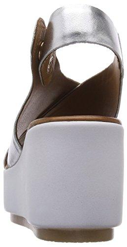 Inuovo Women's 8697 Open Toe Sandals Silver (Silver 16778935) PFUR9g