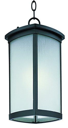 Maxim 85759FSBZ Terrace EE 1-Light Outdoor Hanging Lantern, Bronze Finish, Frosted Seedy Glass, GU24 Fluorescent Fluorescent Bulb , 13W Max., Damp Safety Rating, 2700K Color Temp, Glass Shade Material, 1800 Rated Lumens