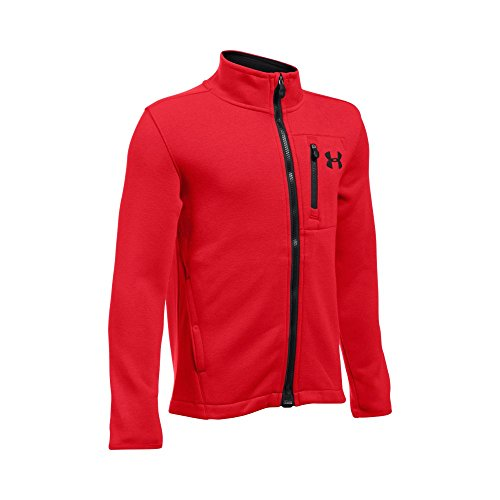 (Under Armour Boys UA Granite Jacket, Red (600)/Black, Youth Small)