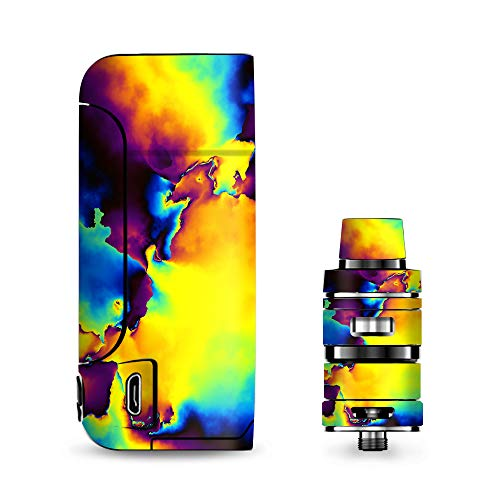 Armour Decals - IT'S A SKIN Decal Vinyl Wrap for Vaporesso Armour Pro Cascade Tank Vape Sticker Sleeve/Bright Colorful Abstract Swirl