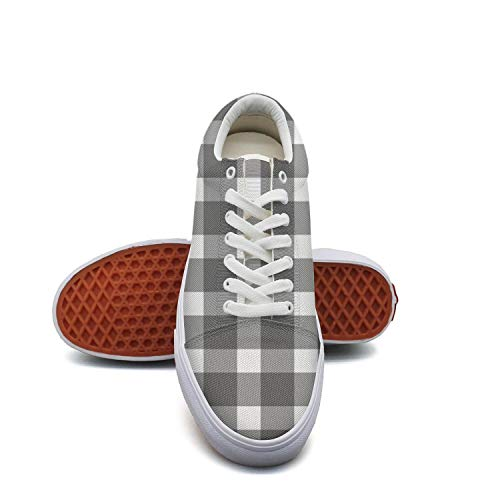 fvnoui LadyClassic Black and White Checkered Popular Canvas Shoes Low-Cut Straps Fashion Comfortable Sneakers Suitable for Walking