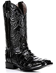Corral Mens Econo Line Caiman Belly Tail Square Toe Cowboy Boots