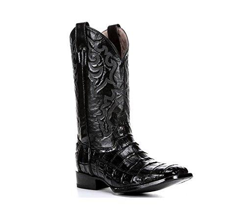 Sirkel G Av Innhegningen Mens Caiman Magen Firkantet Tå Cowboy Boots Svart