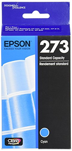 Epson T273220 Epson Claria Premium 273 Standard-capacity Cyan Ink Cartridge (T273220) Ink