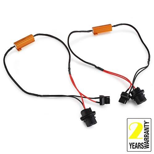 2PCS 7440 50W HID LED Headlight Canbus Decoder Anti Flickering Resistor Decoder