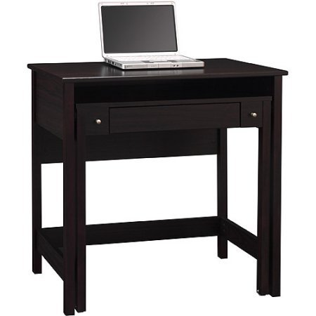 Writing Laptop Desk, Drawer, Open Storage Space, 2 Desk Surface, Space Saver, Perfect for Small Room, Bedroom, Home Office, Dorm, Home Furniture by ProGiga Select