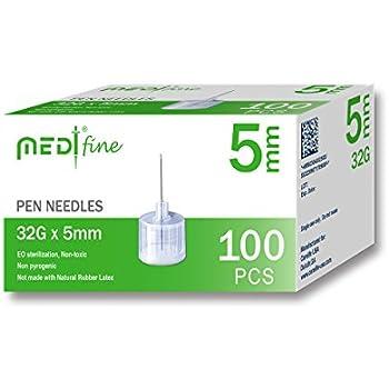 Amazon com: MedtFine Insulin Pen Needles (32G 4mm): Health