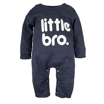 BIG ELEPHANT Baby Boys'1 Piece Graphic Print Long Sleeve Romper Pajama