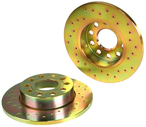 Brembo North America Brake Disc Set Cross Drilled Sport Drilled - Brembo Sport Cross Drilled Brake