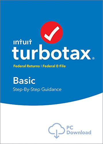 TurboTax Basic Tax Software 2017 Fed + Efile PC Download