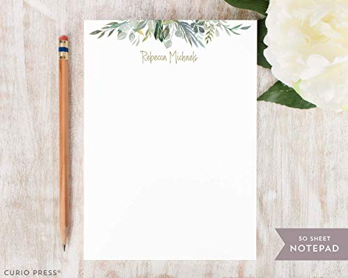 SERENITY NOTEPAD - Personalized Floral Stationery/Stationary 5x7 or 8x10 Note Pad