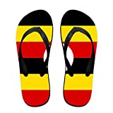 Flag Of Uganda Cozy Flip Flops For Children Adults Men And Women Beach Sandals Pool Party Slippers