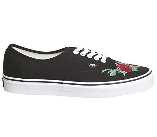 Vans Authentic Vans Black Red Rose Authentic T70F7wq