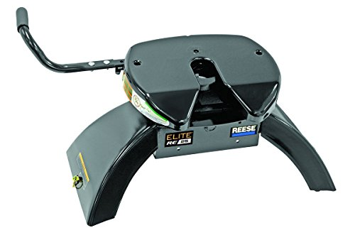 REESE Elite 30143 Fifth Wheel with Slider 25000 lb Load Capacity and 90 degree Fifth Wheel Adapter Harness (#5097410)
