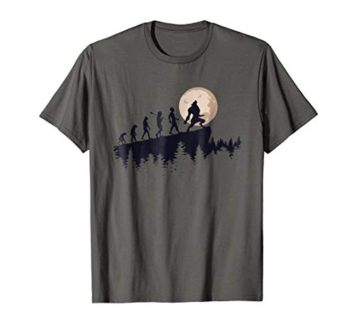 Werewolf Evolution T-Shirt - Werewolves Full Moon Tee ()