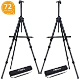 Ohuhu Artist Easel, Aluminum Metal Tripod Field Easel Stand with Bag for Table-Top/Floor