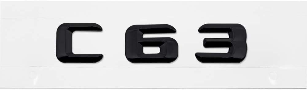 C63 Ricoy New Style 3D F/ür ////// AMG Emblem ABS Trunk Logo Abzeichen Dekoration Geschenk Aufkleber