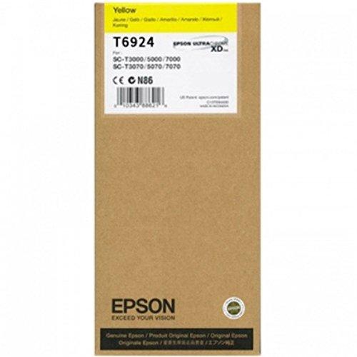 Epson Yellow Ultra Chrome XD Ink Cartridge, 110 ml (T692400)