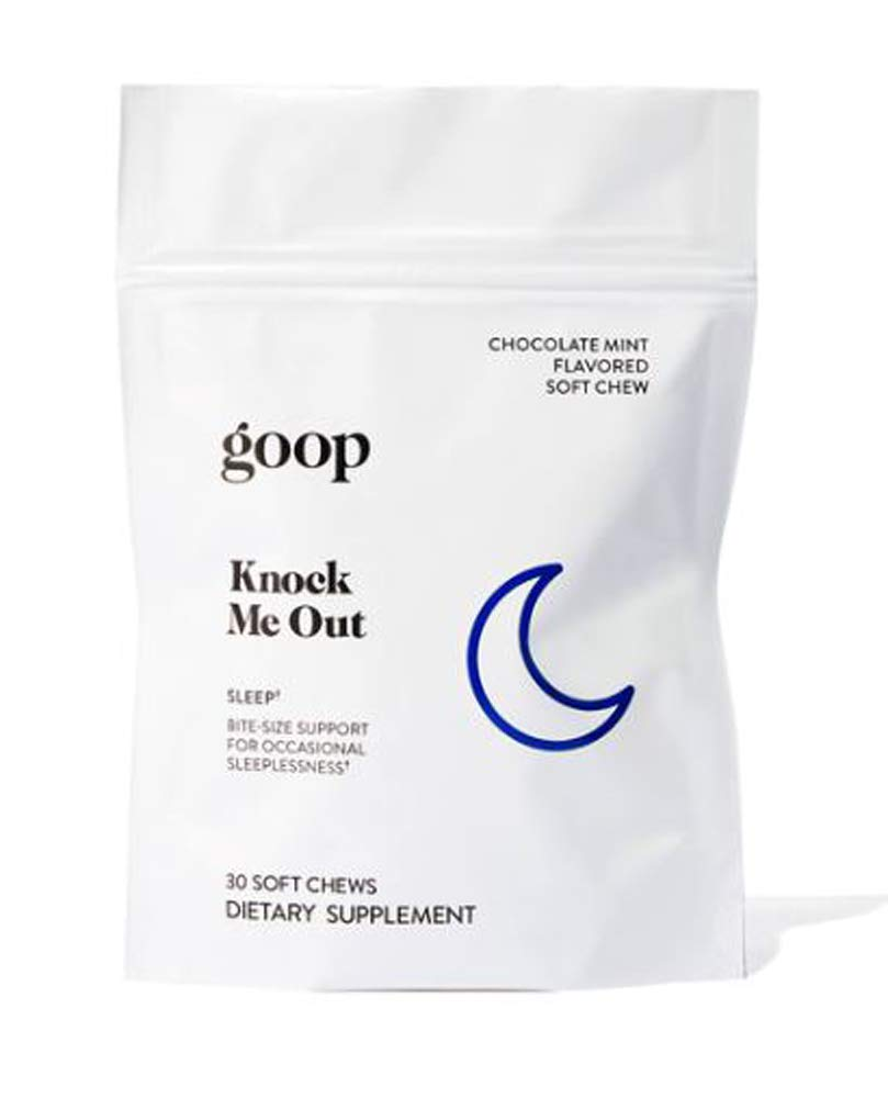 Goop Chews Gummy Vitamin 30 Count! Dietary Supplement for Restful Sleep, More Focus & Immune Support! Choose from Knock Me Out, Perfect Attendance, Nerd Alert and Variety Pack! (Knock Me Out)