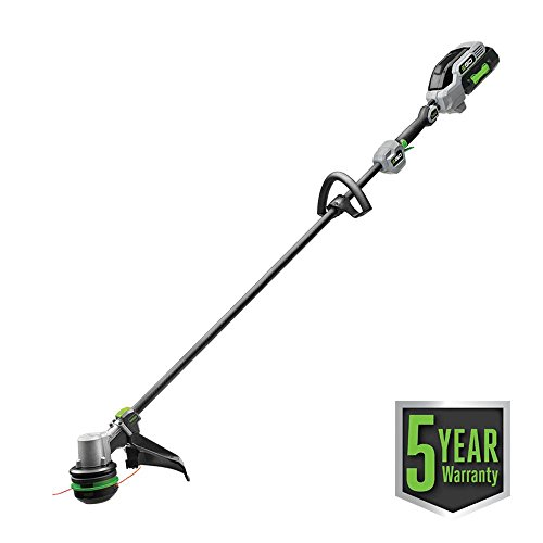 EGO Power+ 15″ 56-Volt Lithium-ion Cordless Powerload Carbon Fiber Straight Shaft String Trimmer with 5.0Ah Battery & Charge