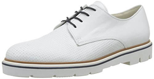 Gabor Shoes Fashion, Zapatos de Cordones Derby para Mujer Blanco (weiss 21)