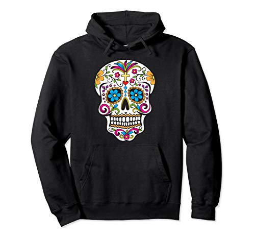 Day of the Dead Sugar Skull Pullover Hoodie (Sugar Skull Pullover Hoodie)