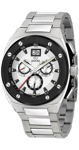 Jaguar J621/A - Reloj de Pulsera de Hombre, Correa de Acero Inoxidable Color Plata: Amazon.es: Relojes