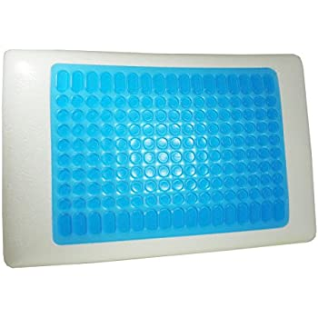 Cooling Pillow - Reversible Memory Foam Stay Cool Pillow With Gel Grade Memory Foam