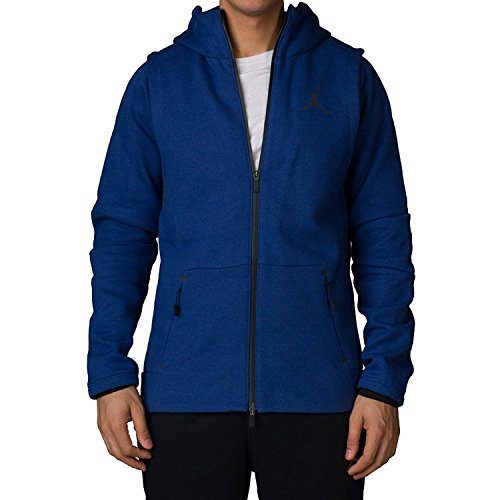 Nike Men's Jordan Shell Tech Fleece Hooded Sweatshirt Blue 809486 491 (s) by NIKE