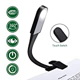 GLIME Book Light Portable Brightness Adjustable 360 Degree Flexible Rotation 3 Modes Eye Protection LED Clip Light USB Charging with Magnet for Travel Train Book Tablet E-reader Night Reading in Be