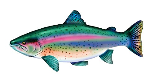 Fish Pillows Giant (Huge Stuffed Rainbow Trout Fish - Giant Pillow - 55