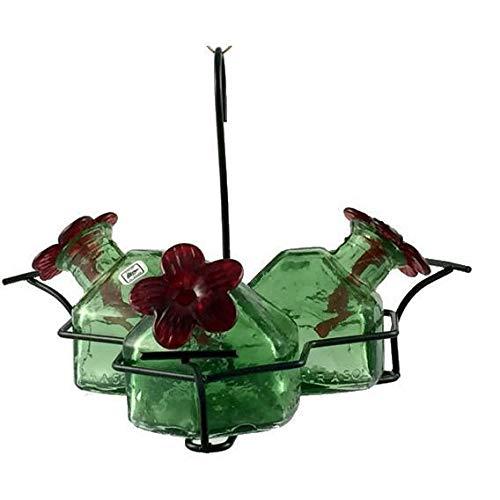 Parasol Bouquet-3 Hummingbird Feeder, Green, 10.5 oz.