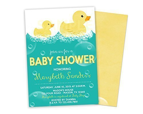 Rubber Ducky Baby Shower Invitations Boy Girl Neutral ()
