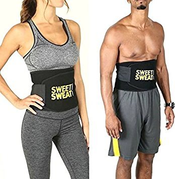 4f44fee0ab Buy Sweet Sweat Waist Trimmer® Hot Waist Shaper Belt Instant Slim Look Belt  for Men and Women Pack of 2 Online at Low Prices in India - Amazon.in
