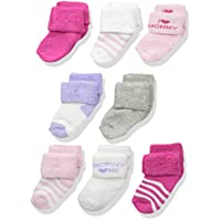Luvable Friends Unisex 8 Pack Newborn Socks, Pink/Mommy, 0-6 Months