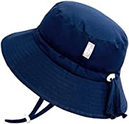 Jan & Jul GRO-with-Me Aqua-Dry Sun-Hat for Baby Toddler Girls, 50+ UPF, Adjustable Straps, Sun-Protection