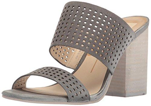 Dolce Vita Women's Esme Heeled Sandal, Smoke Perforated Nubuck, 10 M US