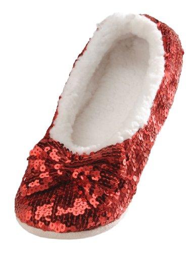 Snoozies Ballerina Metallic Womens Slippers product image