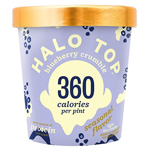 Halo Top, Blueberry Crumble Ice Cream, Pint (4 Count) (Best Halo Top Ice Cream)