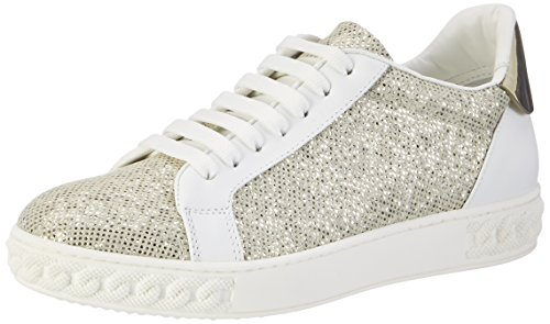 Casadei 2x918, Sneaker Donna Argento (Silver W74)