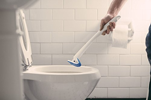 Scotch-Brite Disposable Toilet Scrubber - scrubbing toilet