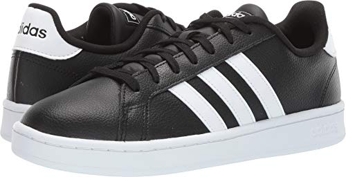 adidas Men's Grand Court, Black White, 10 M US