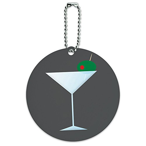 martini-glass-olive-round-luggage-id-tag-card-suitcase-carry-on